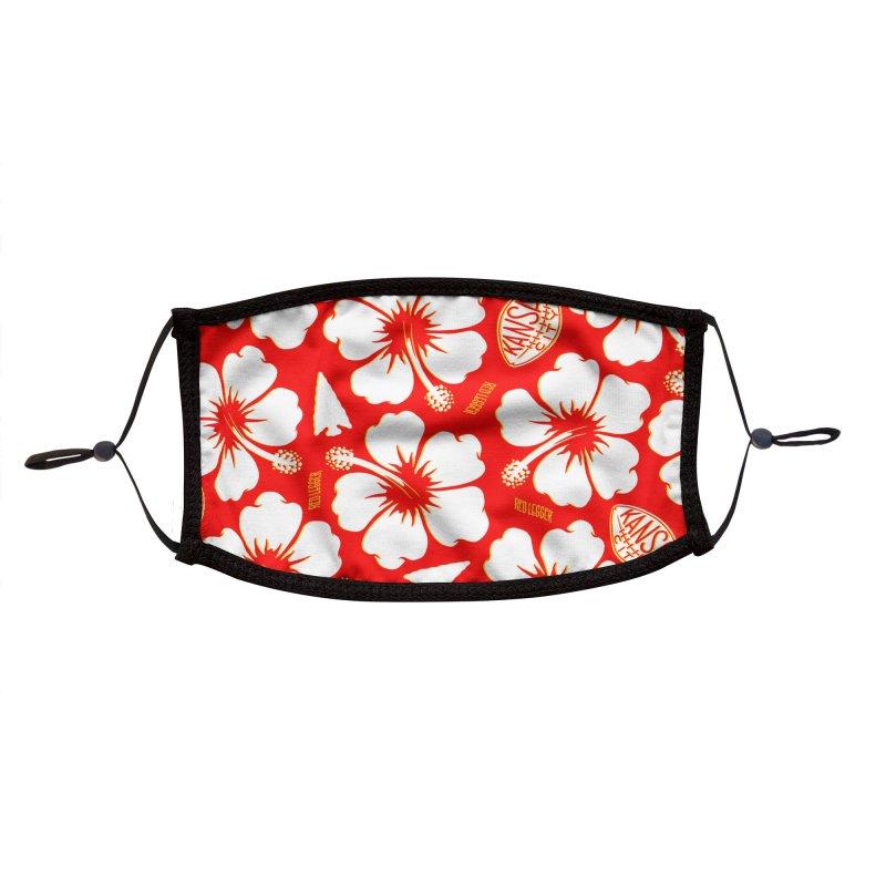 KC Big Red Hawaiian Accessories Face Mask by redleggerstudio's Shop