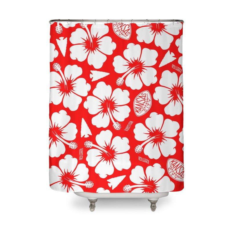 KC Big Red Hawaiian Home Shower Curtain by redleggerstudio's Shop