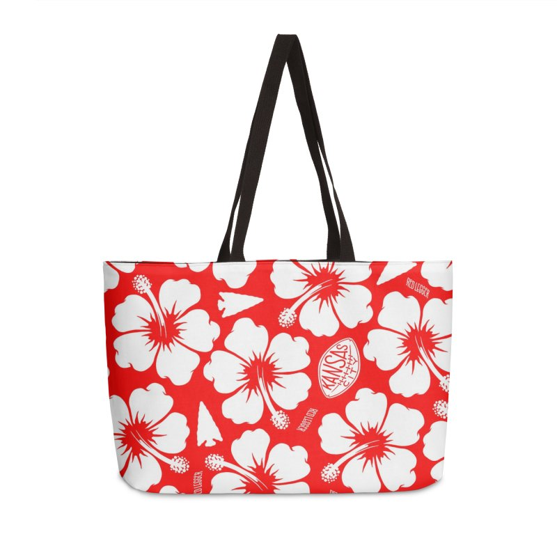 KC Big Red Hawaiian Accessories Weekender Bag Bag by redleggerstudio's Shop