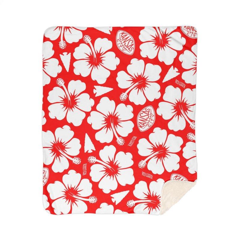 KC Big Red Hawaiian Home Sherpa Blanket Blanket by redleggerstudio's Shop