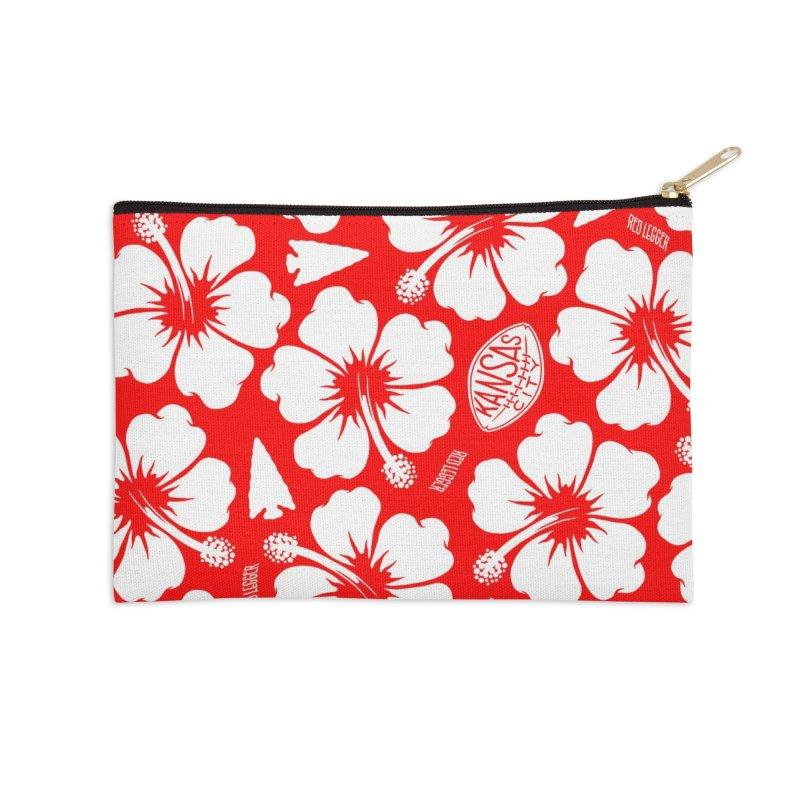 KC Big Red Hawaiian Accessories Zip Pouch by redleggerstudio's Shop