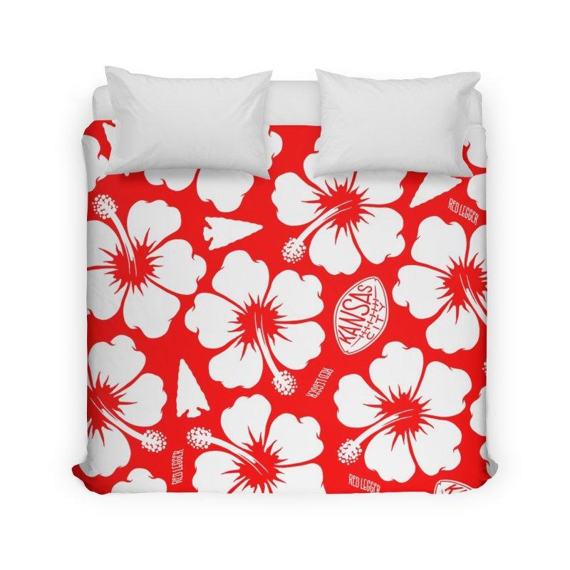 KC Big Red Hawaiian Home Duvet by redleggerstudio's Shop