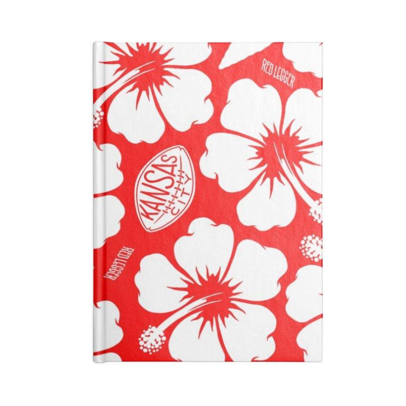 KC Big Red Hawaiian Accessories Lined Journal Notebook by redleggerstudio's Shop