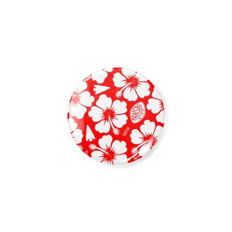KC Big Red Hawaiian Accessories Button by redleggerstudio's Shop