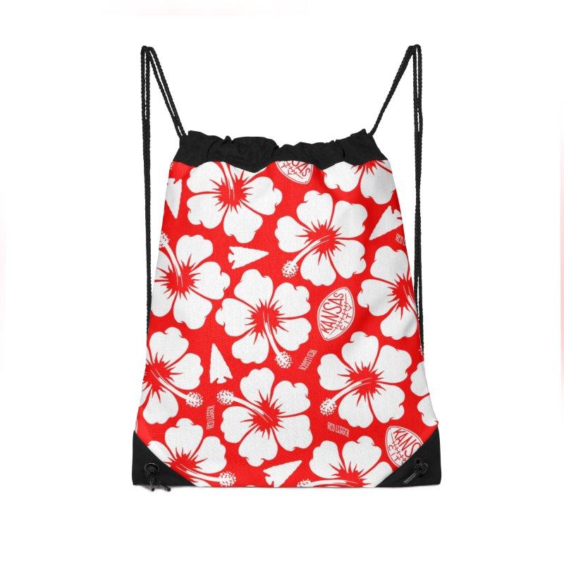 KC Big Red Hawaiian Accessories Drawstring Bag Bag by redleggerstudio's Shop