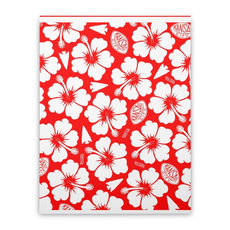 KC Big Red Hawaiian Home Stretched Canvas by redleggerstudio's Shop
