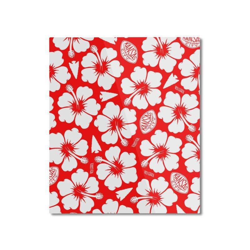 KC Big Red Hawaiian Home Mounted Aluminum Print by redleggerstudio's Shop