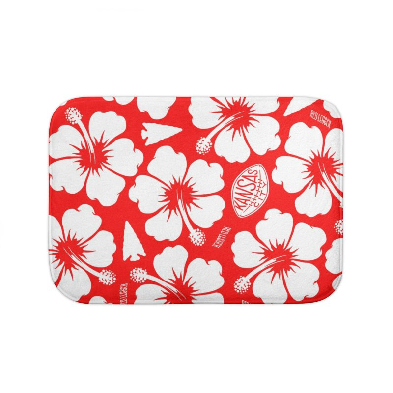 KC Big Red Hawaiian Home Bath Mat by redleggerstudio's Shop
