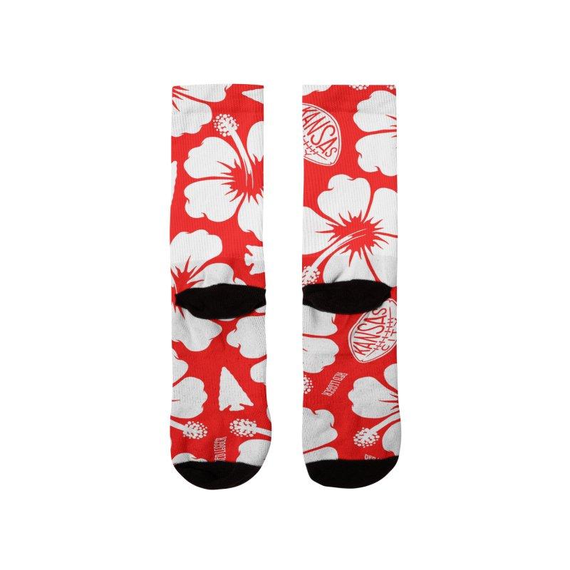 KC Big Red Hawaiian Women's Socks by redleggerstudio's Shop