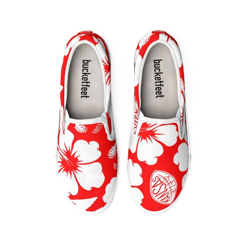 KC Big Red Hawaiian Women's Shoes by redleggerstudio's Shop