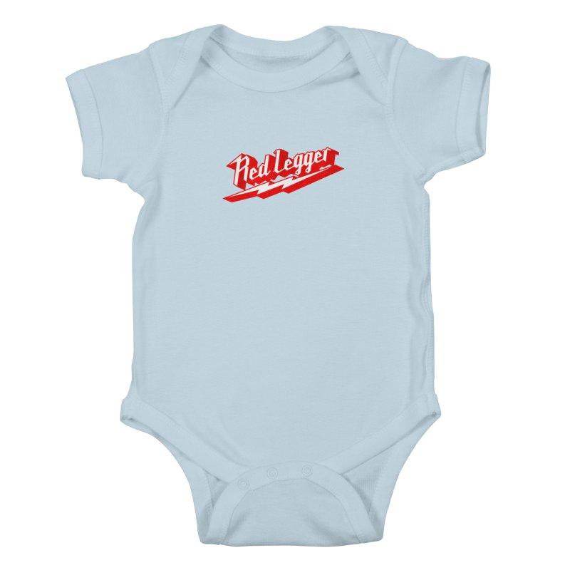 Red Legger Bolt Kids Baby Bodysuit by redleggerstudio's Shop