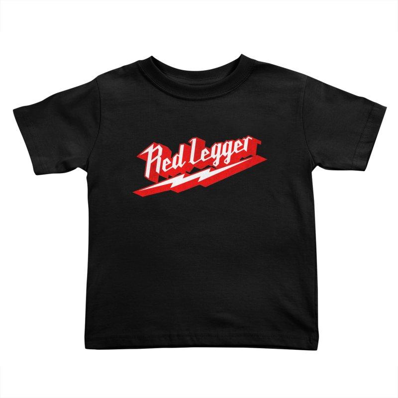 Red Legger Bolt Kids Toddler T-Shirt by redleggerstudio's Shop