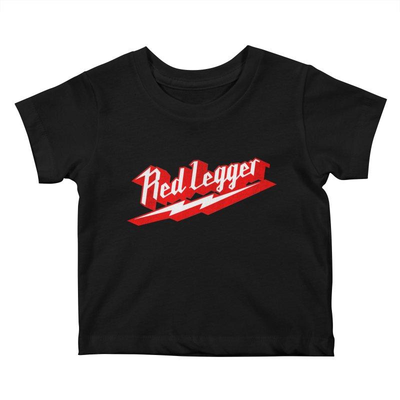 Red Legger Bolt Kids Baby T-Shirt by redleggerstudio's Shop