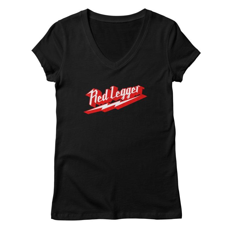 Red Legger Bolt Women's V-Neck by redleggerstudio's Shop