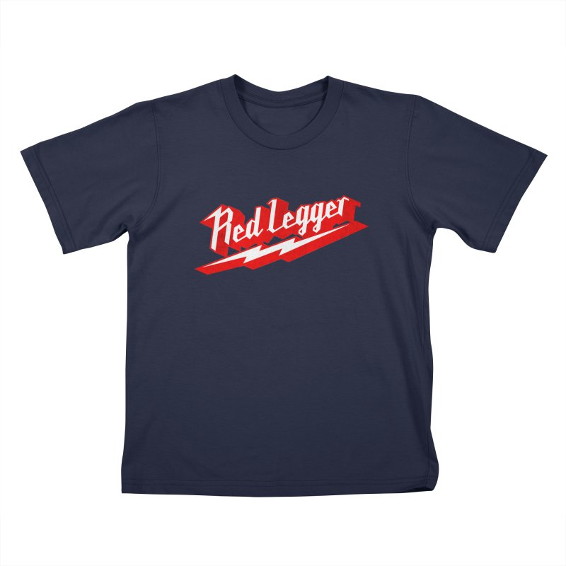 Red Legger Bolt Kids T-Shirt by redleggerstudio's Shop