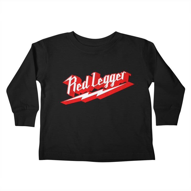 Red Legger Bolt Kids Toddler Longsleeve T-Shirt by redleggerstudio's Shop