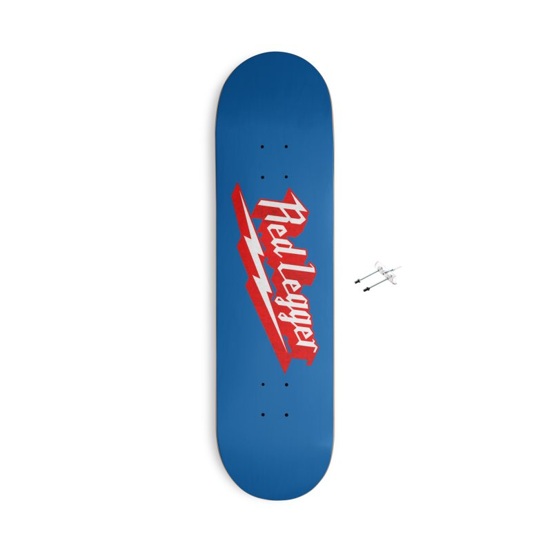 Red Legger Bolt Accessories Skateboard by redleggerstudio's Shop