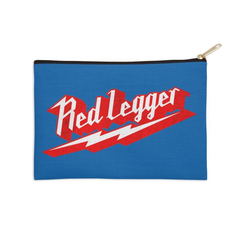 Red Legger Bolt Accessories Zip Pouch by redleggerstudio's Shop