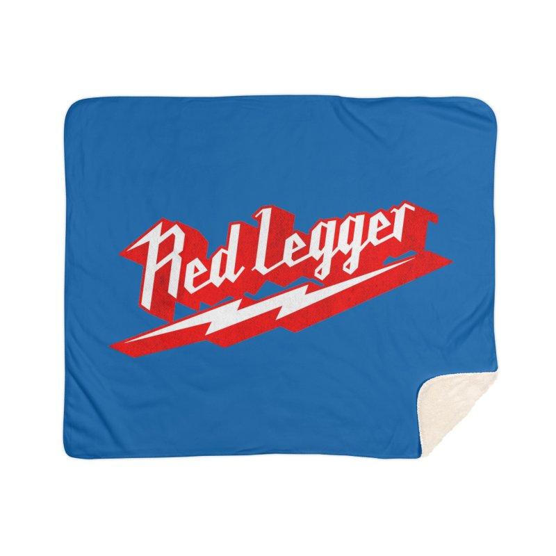 Red Legger Bolt Home Blanket by redleggerstudio's Shop