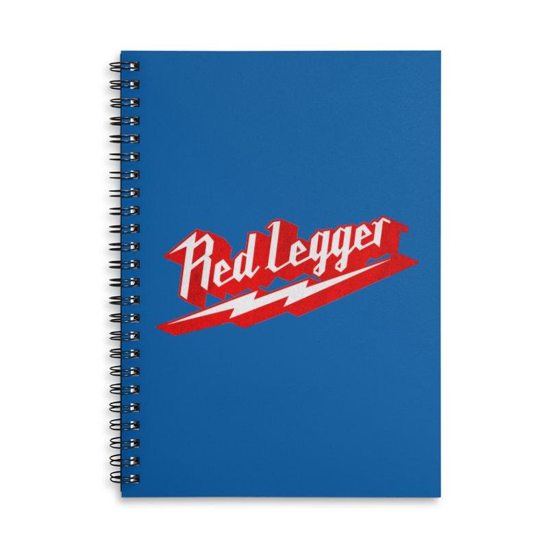 Red Legger Bolt Accessories Notebook by redleggerstudio's Shop