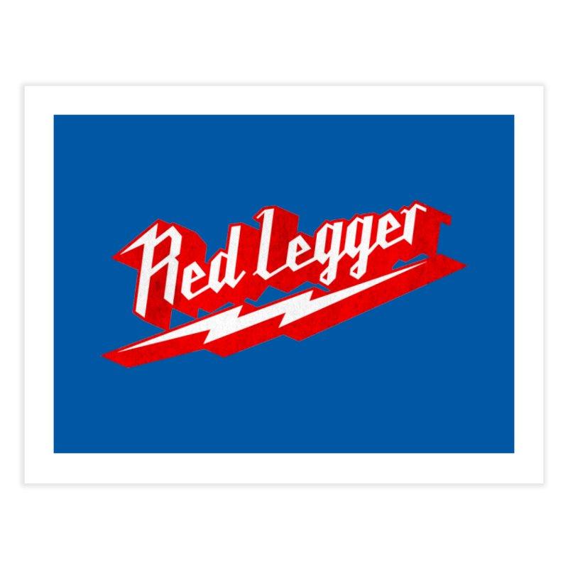 Red Legger Bolt Home Fine Art Print by redleggerstudio's Shop
