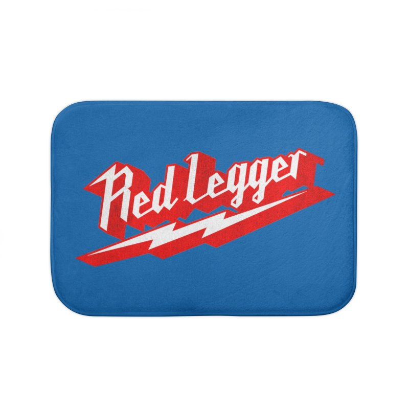 Red Legger Bolt Home Bath Mat by redleggerstudio's Shop