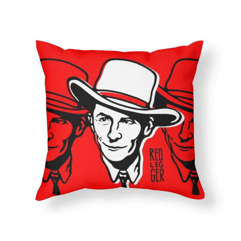 Hank Home Throw Pillow by redleggerstudio's Shop