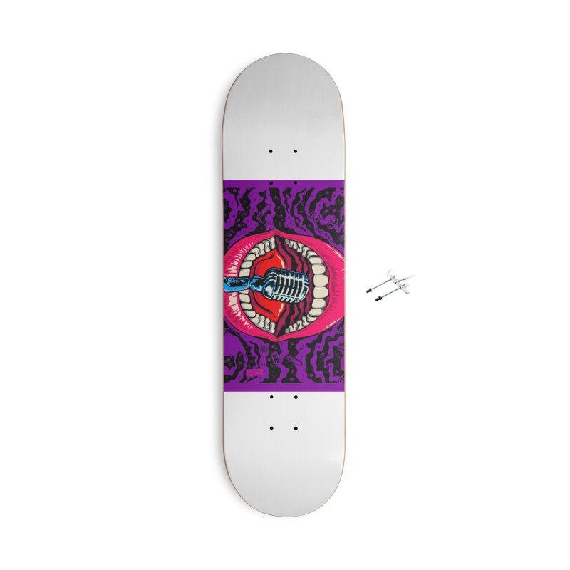 Hot Lips Accessories Skateboard by redleggerstudio's Shop