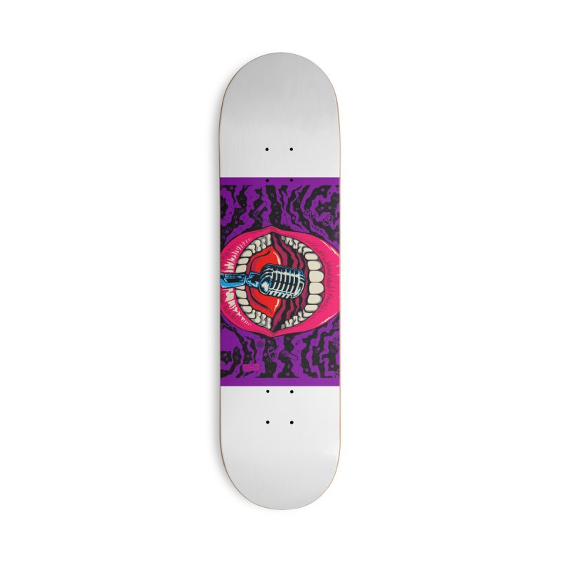 Hot Lips Accessories Skateboard by redleggerstudio's Shop