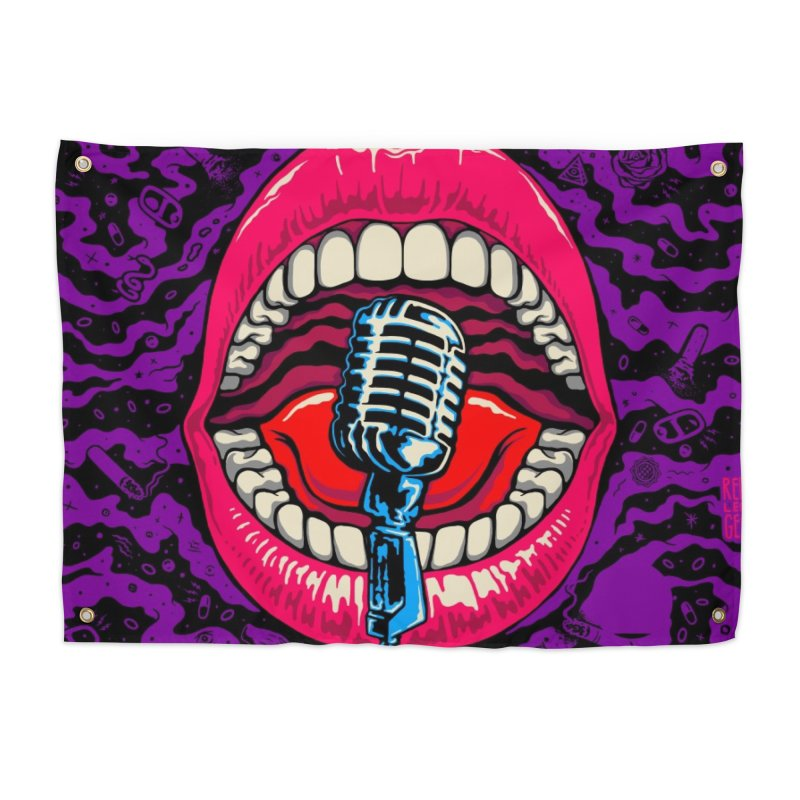 Hot Lips Home Tapestry by redleggerstudio's Shop
