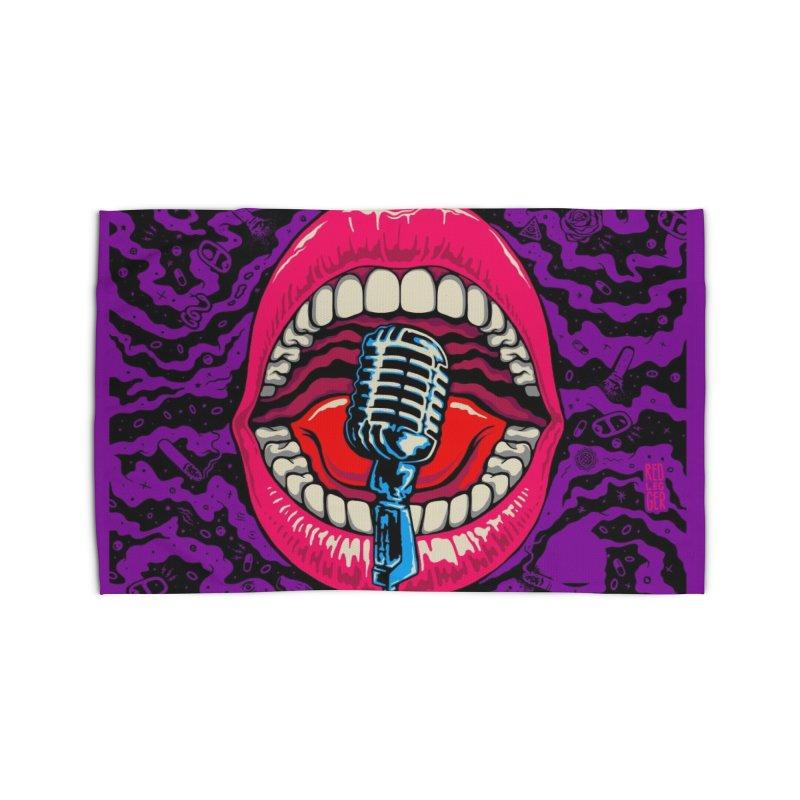 Hot Lips Home Rug by redleggerstudio's Shop
