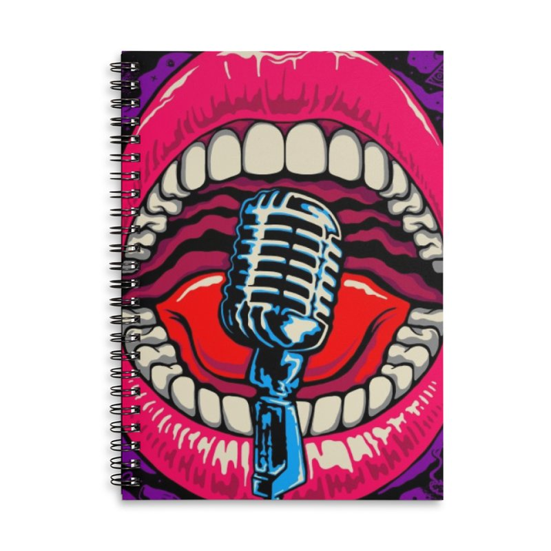 Hot Lips Accessories Notebook by redleggerstudio's Shop