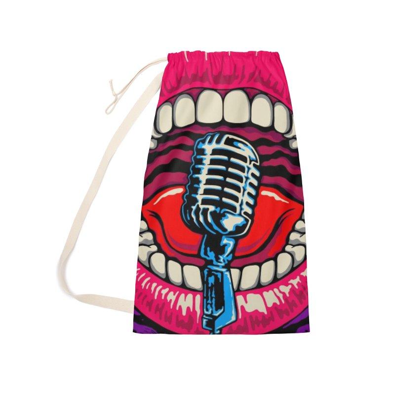 Hot Lips Accessories Bag by redleggerstudio's Shop