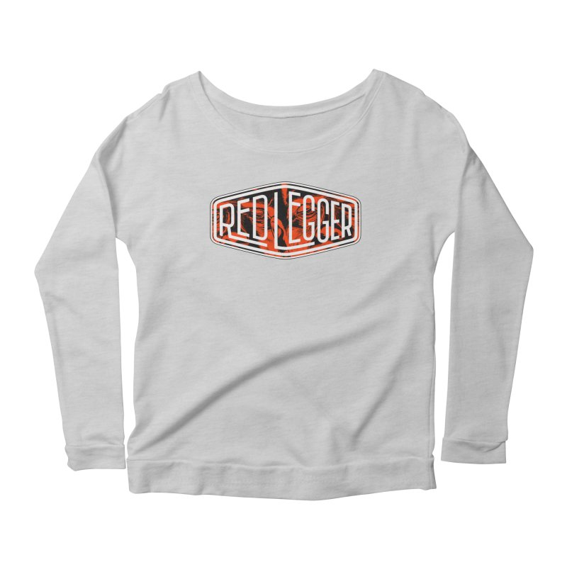 Red Legger Badge Women's Longsleeve Scoopneck  by redleggerstudio's Shop