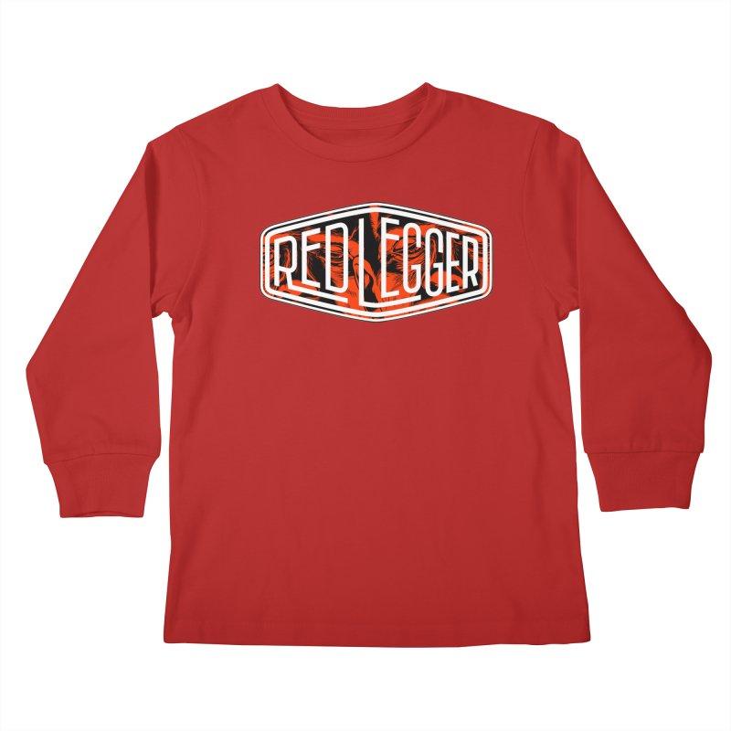 Red Legger Badge Kids Longsleeve T-Shirt by redleggerstudio's Shop