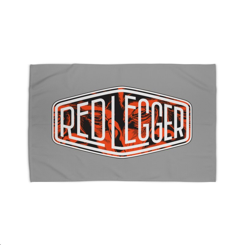 Red Legger Badge Home Rug by redleggerstudio's Shop