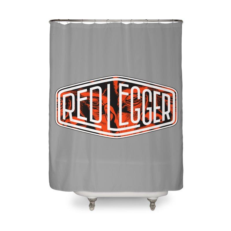 Red Legger Badge Home Shower Curtain by redleggerstudio's Shop