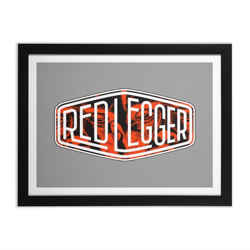 Red Legger Badge Home Framed Fine Art Print by redleggerstudio's Shop
