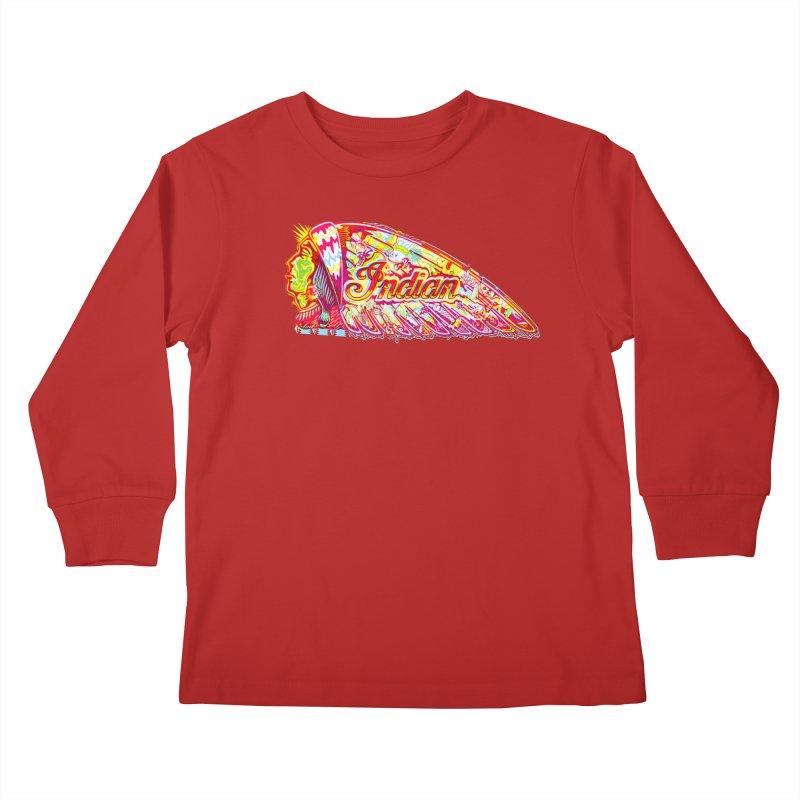 The Indian Kids Longsleeve T-Shirt by redleggerstudio's Shop
