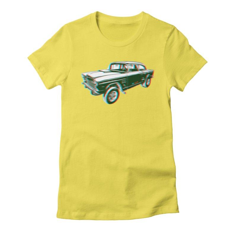 Gasser Women's Fitted T-Shirt by redleggerstudio's Shop