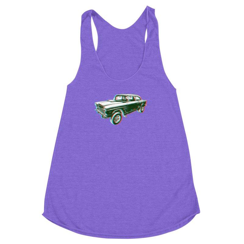 Gasser Women's Racerback Triblend Tank by redleggerstudio's Shop
