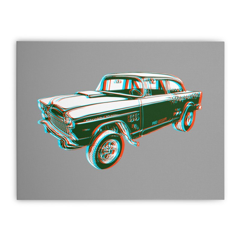 Gasser Home Stretched Canvas by redleggerstudio's Shop