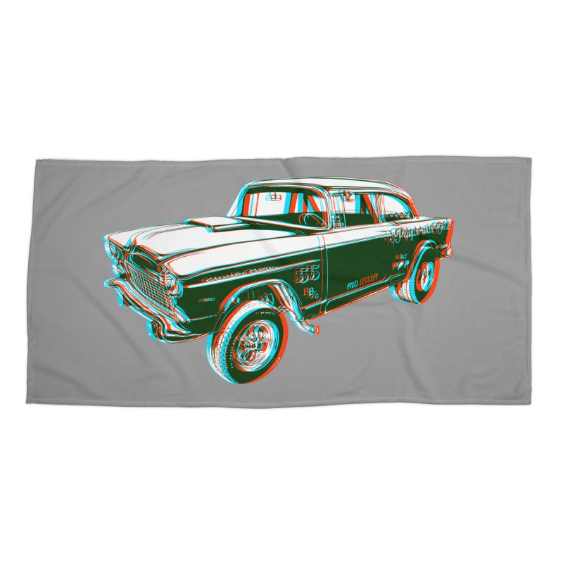 Gasser Accessories Beach Towel by redleggerstudio's Shop