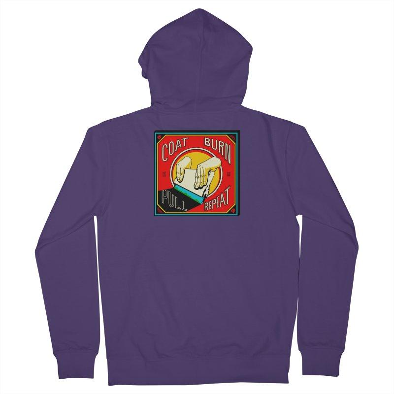 Coat, Burn, Pull, Repeat Women's Zip-Up Hoody by redleggerstudio's Shop
