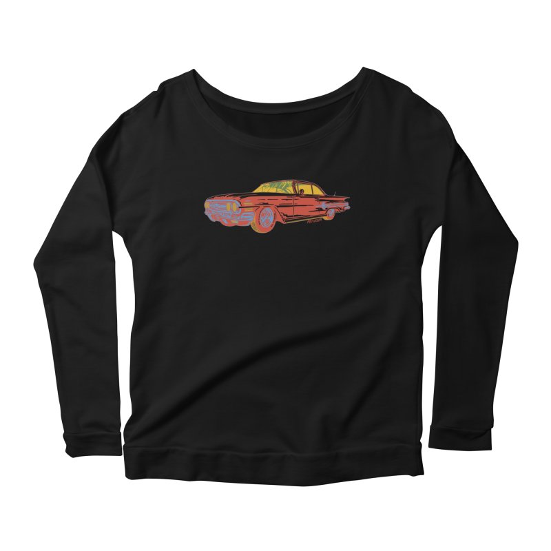 Impala Women's Longsleeve Scoopneck  by redleggerstudio's Shop