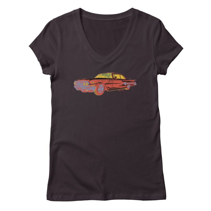 Impala Women's V-Neck by redleggerstudio's Shop