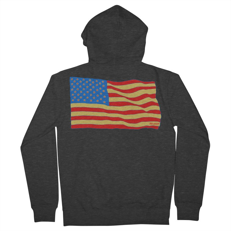 Red Legger Flag Men's Zip-Up Hoody by redleggerstudio's Shop