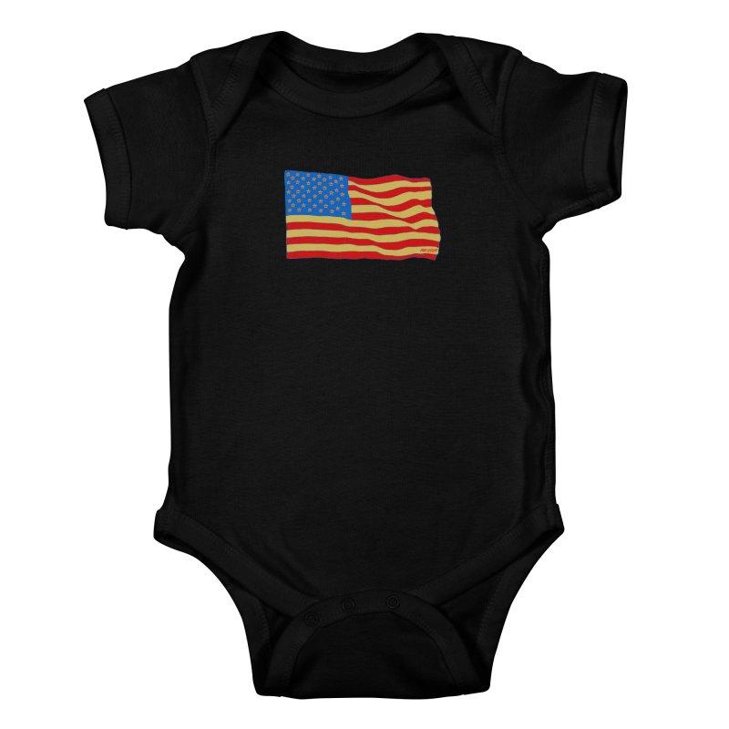 Red Legger Flag Kids Baby Bodysuit by redleggerstudio's Shop