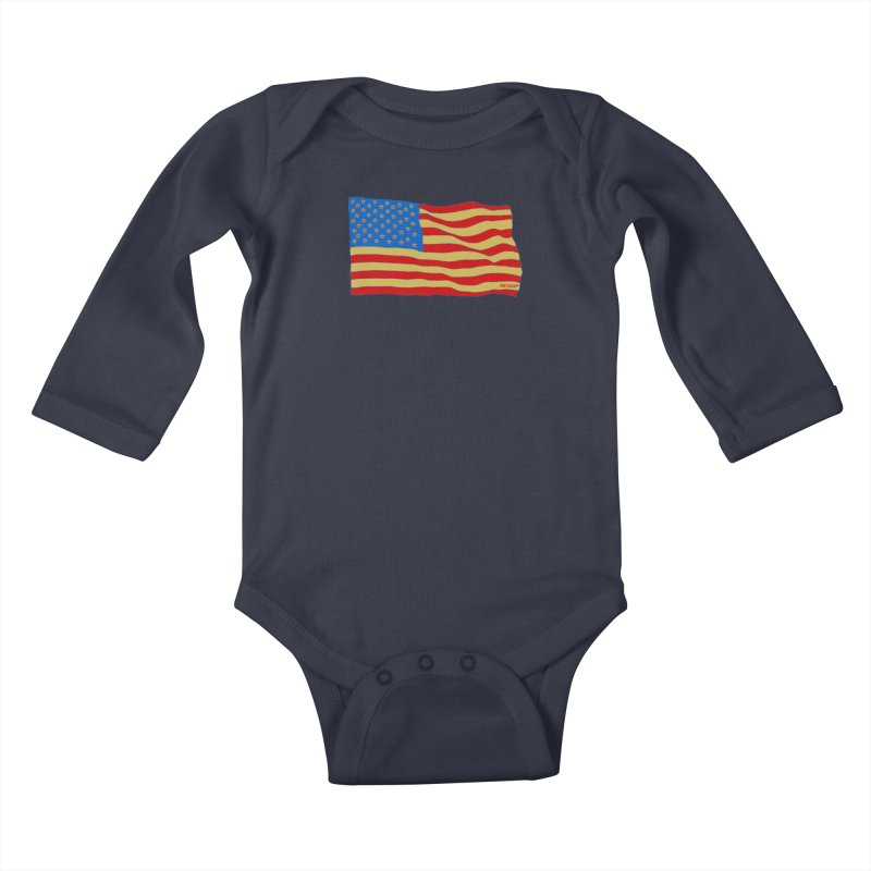 Red Legger Flag Kids Baby Longsleeve Bodysuit by redleggerstudio's Shop