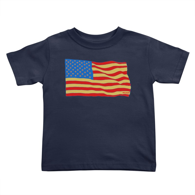 Red Legger Flag Kids Toddler T-Shirt by redleggerstudio's Shop
